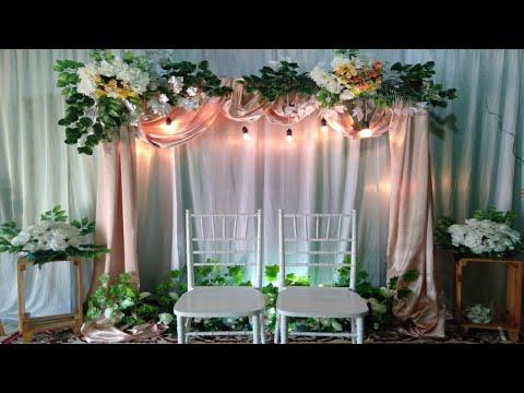 dekorasi lamaran sederhana, dekorasi akad nikah, dekorasi