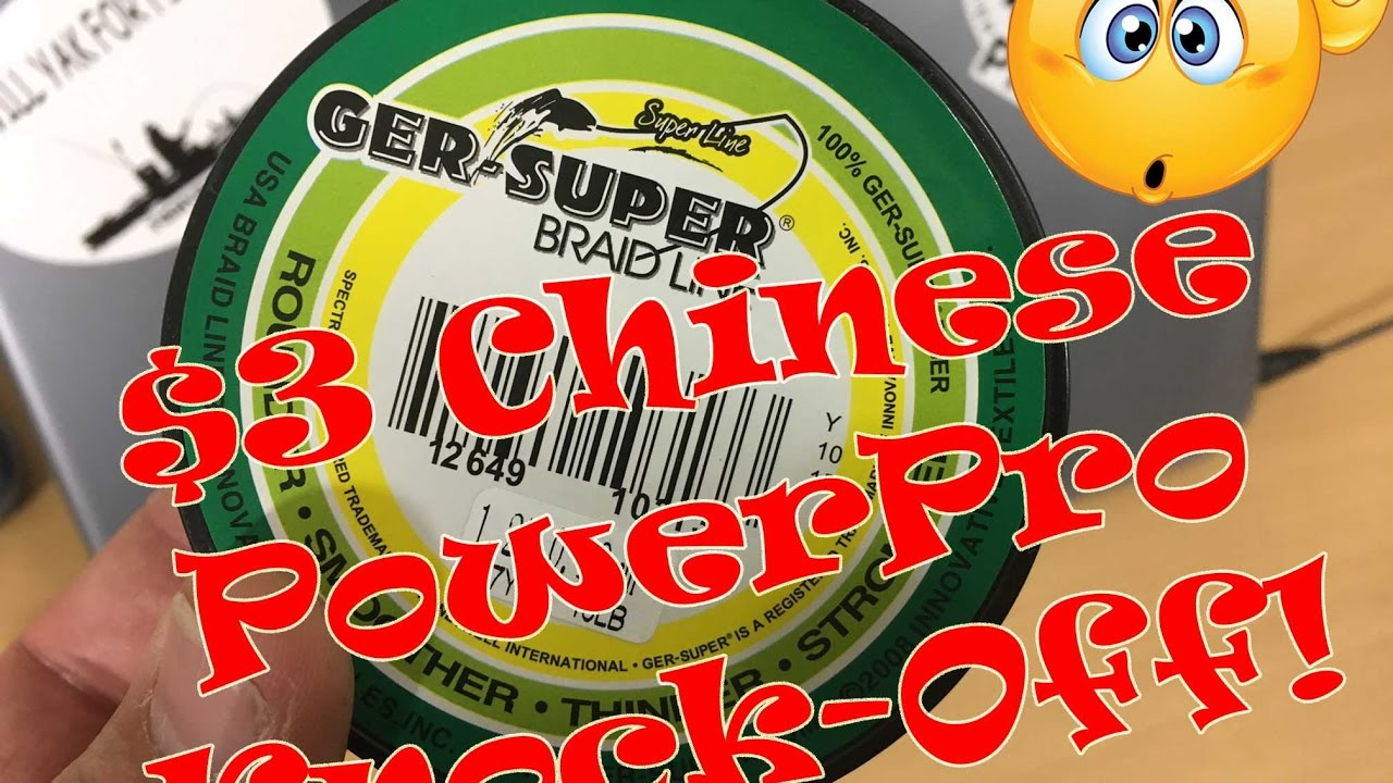 CHEAP Chinese PowerPro Braid Fishing Line KNOCK-OFF; Under $3.00 ...