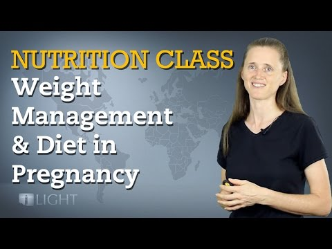 Nutrition Class - Weight Management & Diet in Pregnancy, Lactation, & Early Childhood