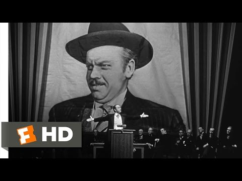 Citizen Kane - Campaign Promises Scene (5/10) | Movieclips