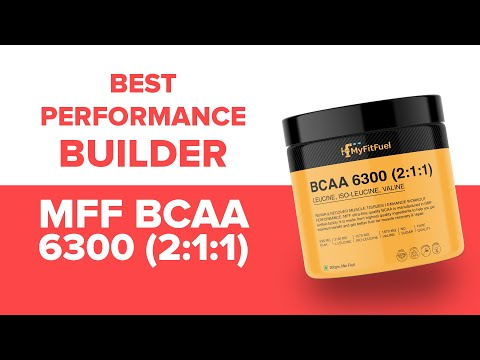 MyFitFuel BCAA 6300 (2:1:1) | Better Body Builders | High Exercise Performance| Pure Growth Aminos