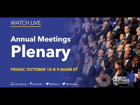 2019 Annual Meetings Plenary