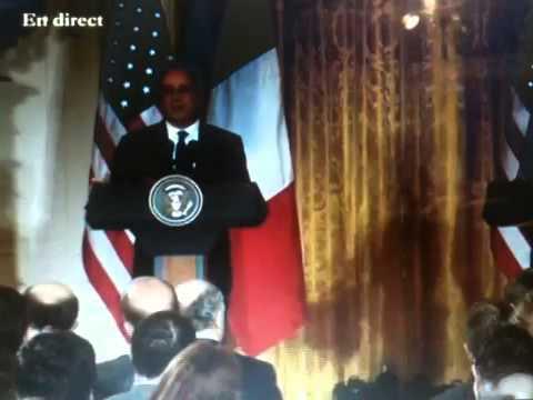 Conférence de presse conjointe de F.Hollande et de B.Obama à la Maison Blanche