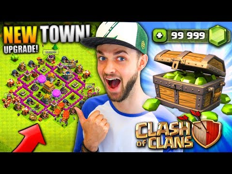 MY NEW TOWN HALL! (GEM UPGRADING) - Clash Of Clans