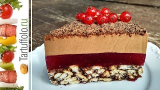 Торт без выпечки ШОКОЛАДНАЯ СМОРОДИНА