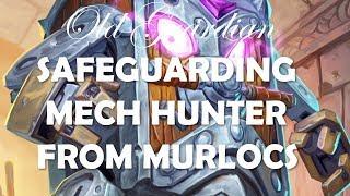 Safeguarding Hunter against Murloc Shaman (Epic Hearthstone Rise of Shadows gameplay)