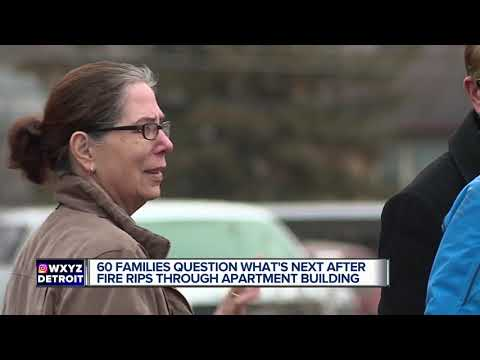 60 families question what's next after fire rips through Sterling Heights apartment