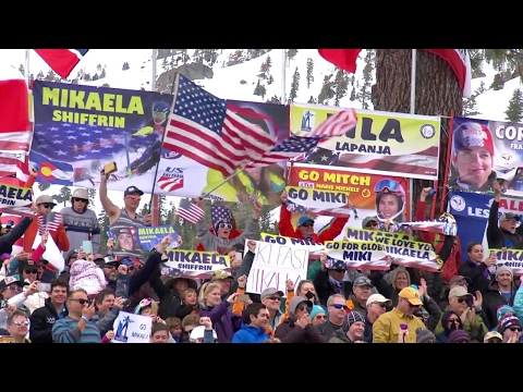Mikaela Shiffrin - Giant Slalom Run 2 - Squaw Valley 2017