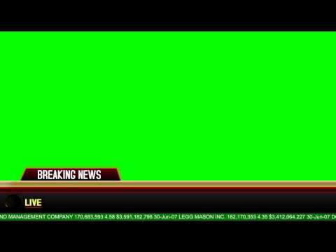 Breaking News Banner Green Screen! [DOWNLOAD]