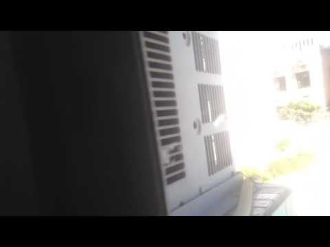 Looking at the condenser fan of the Carrier brand, mini split type air conditioner