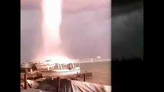 Scary video from waterspout/tornado in Feodosia, Crimea , Black Sea - Sept. 6, 2018