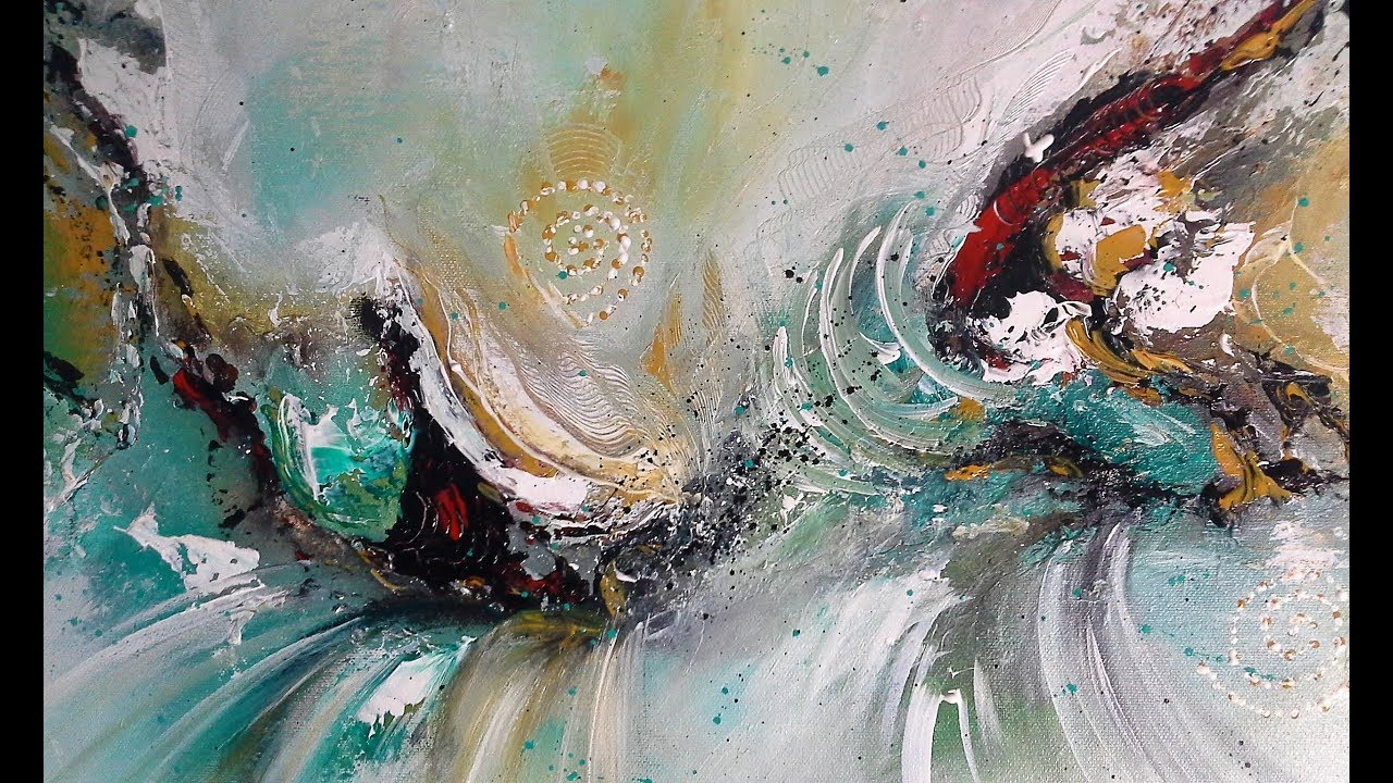 The famous abstract oil painting wonderful color landscape