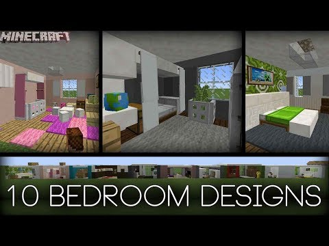 Minecraft - 10 Bedroom Designs! (Plus tips!)