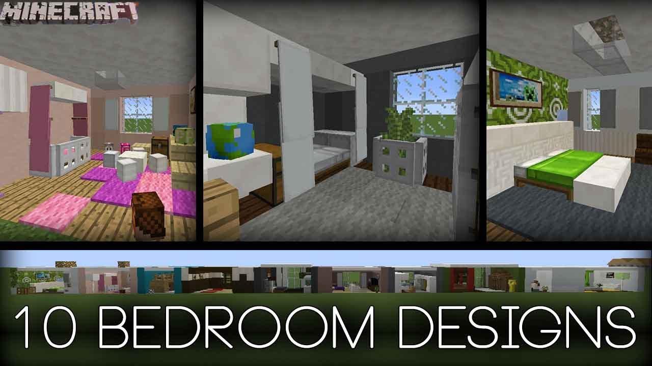 Minecraft - 10 Bedroom Designs! (Plus tips!) - YouTube