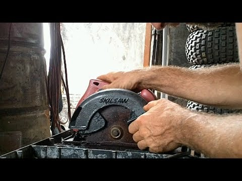 Making a Ghetto Table Saw Heh heh - YouTube