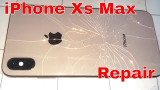 How to iPhone Xs max back glass replacement repair