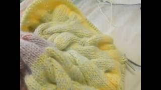 Кардиган Лало единым полотном.Вязание спицами. Часть 2.