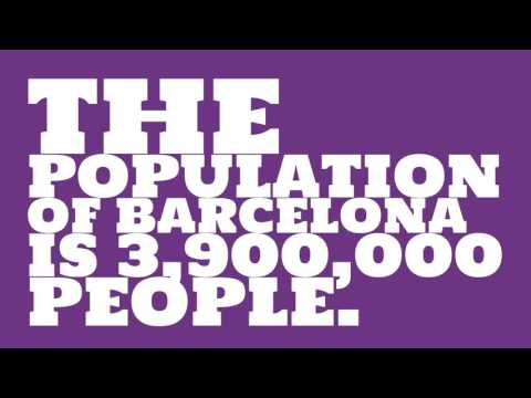 What is the population density of Barcelona?