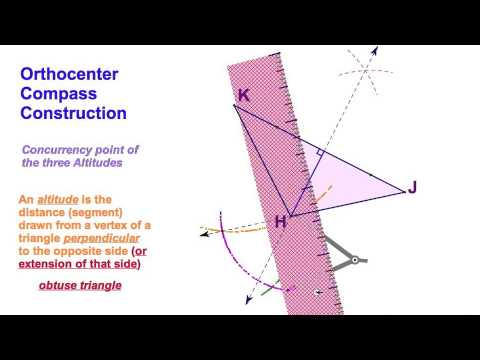 54 Orthocenter Compass Construction Obtuse Triangle Youtube