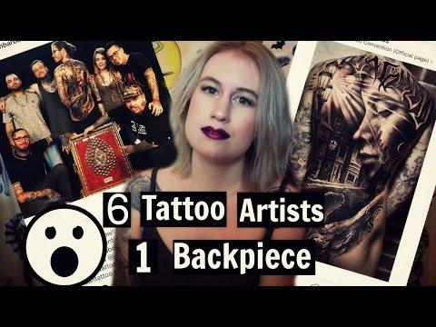 6 TATTOO ARTISTS 1 BACKPIECE!! | Collaborative Tattoos