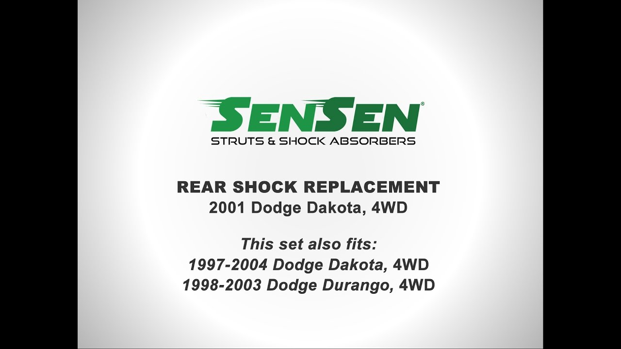 hight resolution of replacement of rear shocks on a 2001 dodge dakota 4wd l sensen shocks struts