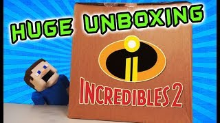 Incredibles 2 Movie TOY Mystery Box Egg UNBOXING - Action Figures, Playsets, Full Review Trailer