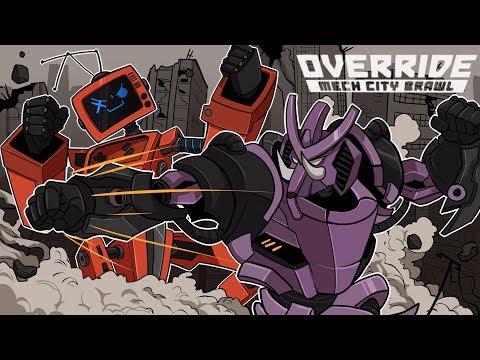 ROCK'EM SOCK'EM ROBOTS! (aka The BEST Fighting Game EVER) | Override: Mech City Brawl