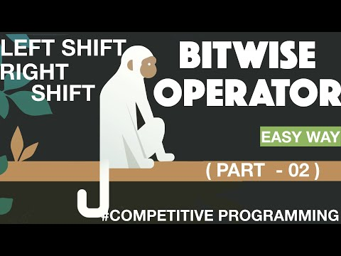 Left Shift And Right Shift Bitwise Operator   || Competitive Programming ||