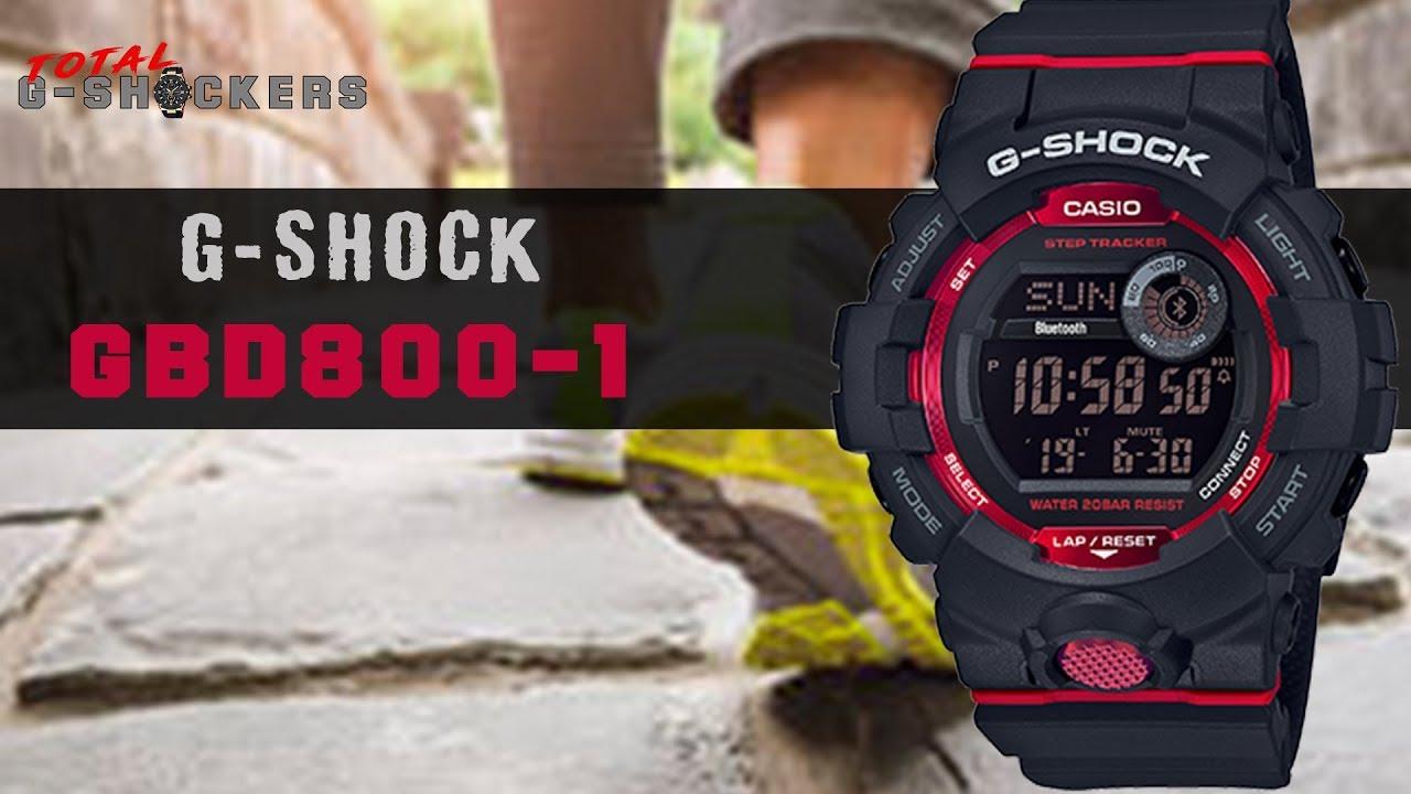 G Shock Zwart Met Rood.New Casio G Shock Gbd800 1 Black Red G Shock G Squad Step