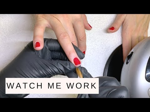 """20 min Manicure at my studio feat. CND Vinylux """"KISS OF FIRE"""""""