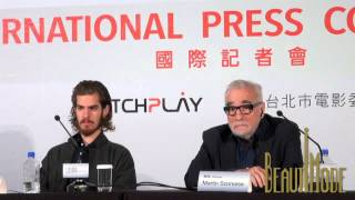 Martin Scorsese on casting Adam Driver, Issey Ogata in 'Silence' 20150504 'Silence' Press Conference