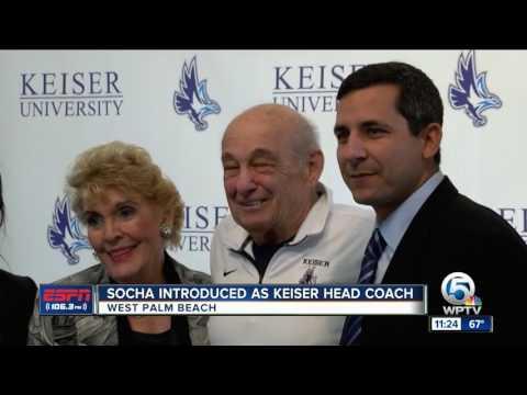Socha Introduced as Keiser New Football Coach