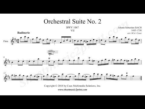 Bach : Badinerie BWV 1067 - Flute