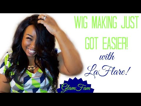 Easier wig making for beginners with LaFlare closure on cap!