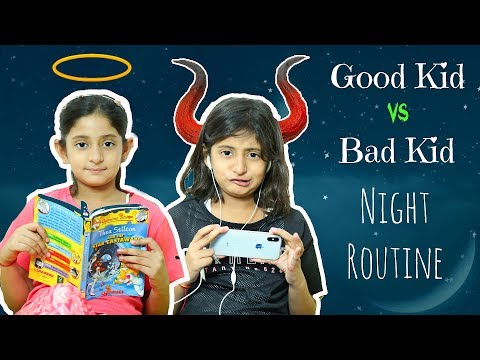 Good Kid vs Bad Kid - Night Routine | #Sketch #Fun #MyMissAnand