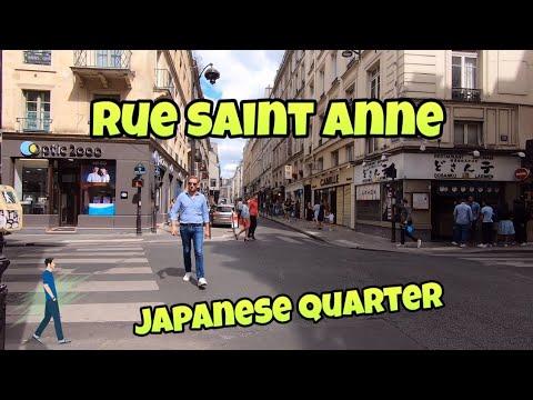 "Walking tour in Paris : rue Saint Anne ""Japanese Quarter"""