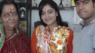 must watch bhojpuri actress shubhi sharma ganesh chaturthi celebrations 2016 at his home