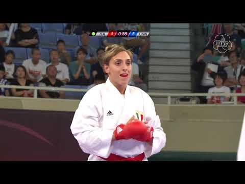 Silvia Semeraro (ITA) vs Li Gong (CHN) -68kg.Tokyo Karate 1 Premier League 2019 Bronze Medals