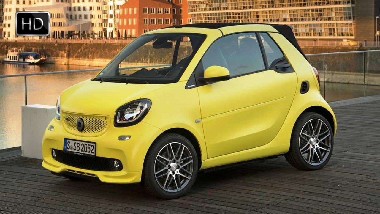 2017 Smart Brabus Fortwo Cabrio Yellow Exterior Interior Road Driving Hd You
