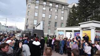 В последний путь... Похороны директора Новосибирского Зоопарка Р. А. Шило