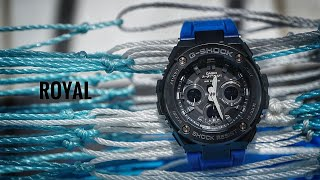 Casio G-Shock GST-S300G-2A1DR Mid size Royal Blue G-Steel watch unboxing & review