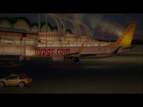 [Prepar3D] PGT75NN, Full Flight -  Istanbul Sabiha(LTFJ) Amsterdam(EHAM) - PMDG 737-800 NGX