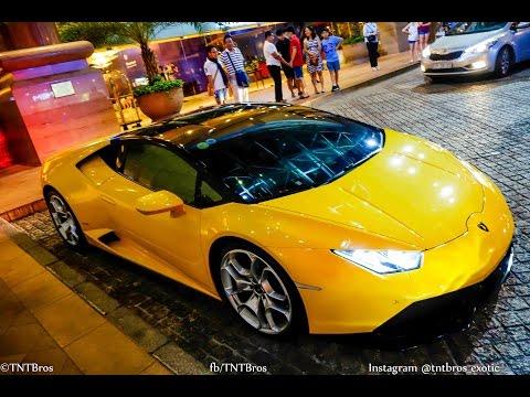 Phản ứng của fan cuồng gặp Cường Đô La và Hạ Vi với siêu xe Lamborghini Huracan độc nhất Việt Nam