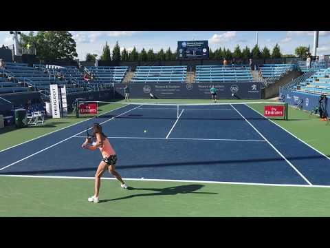 Agnieszka Radwanska Tennis Practice at the 2017 Western & Southern Open