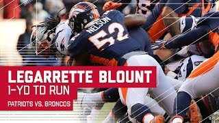 LeGarrette Blount's Powerful TD Blast! | Patriots vs. Broncos | NFL Week 15 Highlights