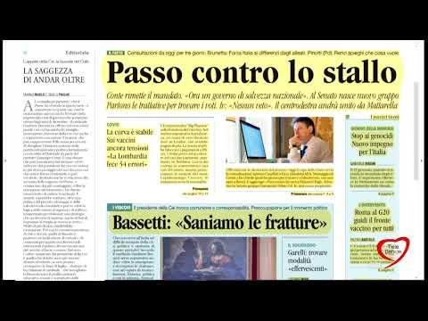 I giornali in edicola - la rassegna stampa 27/01/2021