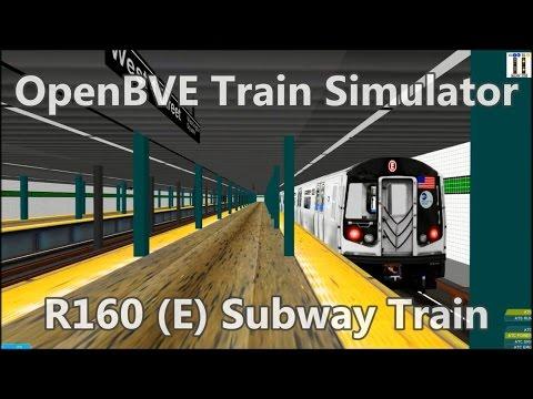 OpenBVE ►E Train Jamaica Center to World Trade Center!◀  (R160)