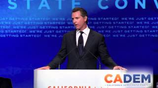 Lt. Gov. Gavin Newsom 2013 CADEM Convention