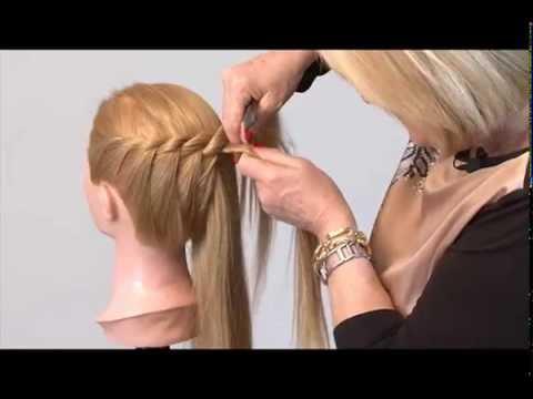 Corso Acconciature Capelli Treccia A Corona Hairstyle Crowned Braid