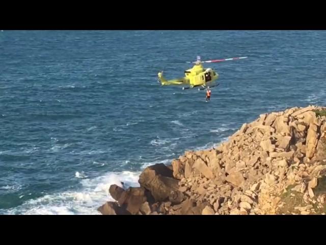 Rescatado un hombre que cayó al mar en la zona de Tagle, Cantabria